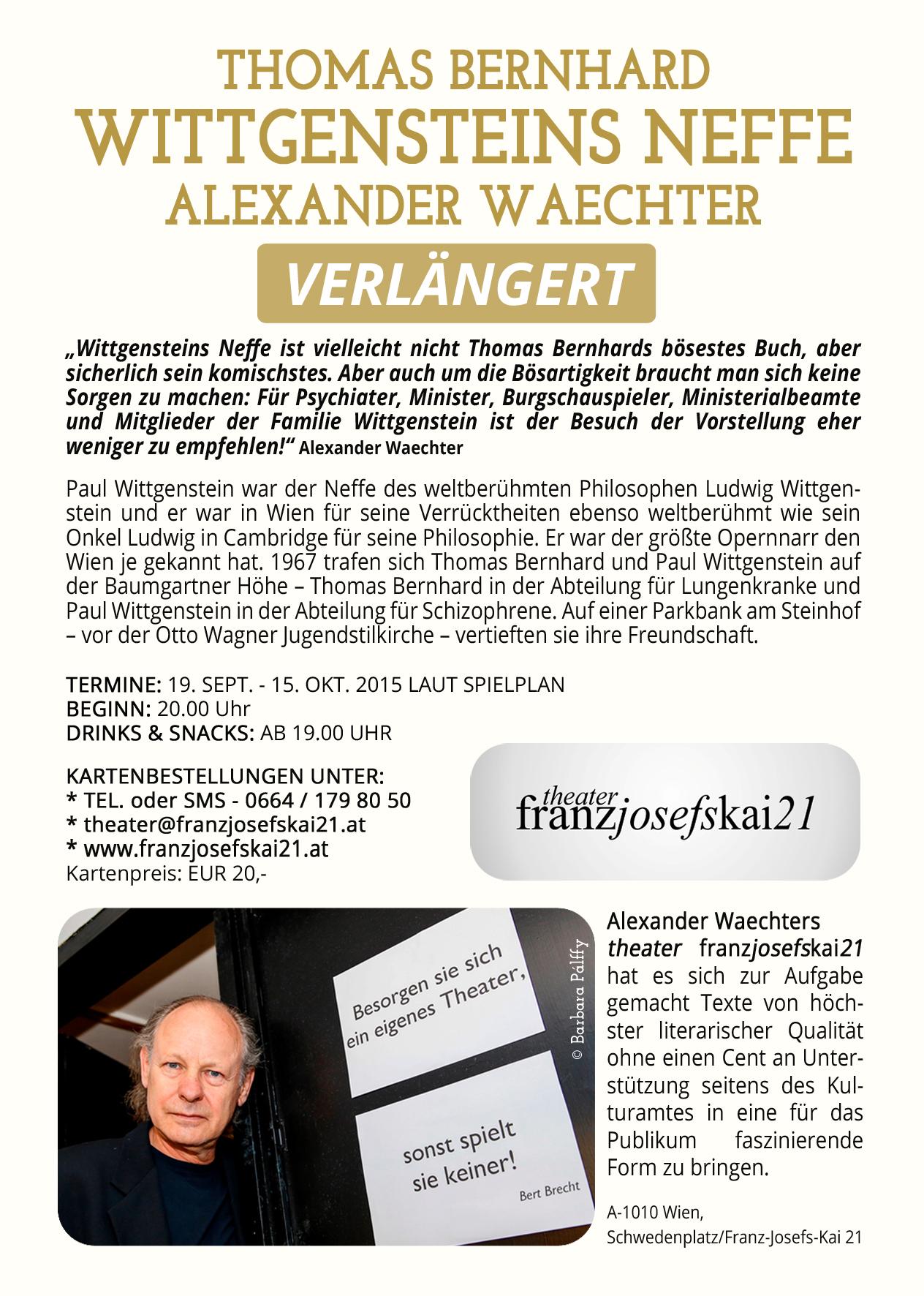 2015 wittgensteins neffe theater franzjosefskai21 2015 wittgensteins neffe fandeluxe Images